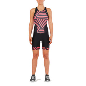 2XU Perform Y Back Trisuit Women black/geo melon